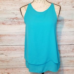 Cynthia Rowley top Turquoise Blue Sleeveless Small